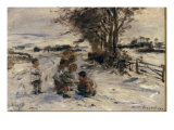 At Play in the Snow, 1889 Poster by William McTaggart