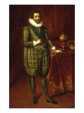 A Portrait of James I of England and VI of Scotland Posters by Paul van Somer
