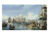 A View of Santa Maria della Salute, Venice Giclee Print by Alexandre Francia