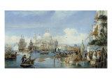A View of Santa Maria della Salute, Venice Giclee Print by Alexandre Francia