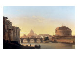 A View of Rome, with the Castel Sant'Angelo Posters by Ippolito Caffi