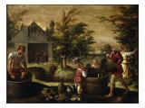 Otoño Lámina por Dirck de Vries