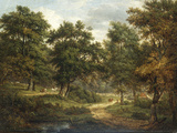 A Forest Scene, Sussex Poster by Patrick Nasmyth