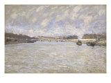 La Seine a Paris et le Pont de Grenelle, 1870 Poster by Alfred Sisley