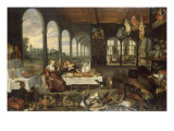 A Palace Interior with the Prodigal Son Feasting Posters by Jan Breugel the Elder
