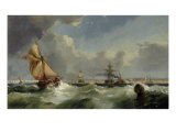 A Breezy Evening on the Mersey Print by William Callow