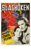 The Sea Hawk, Swedish Movie Poster, 1940 Poster