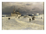 The Oihonna in Ice, Near Spitzbergen, 1905 Giclee Print by Themistocles von Eckenbrecher