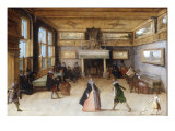 An Interior Scene with elegant Company dancing and playing Music Giclee Print by Louis de Caullery