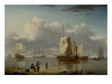 Shipping off the Coast, 1790 Giclee Print by William Anderson