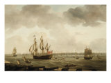 The Fleet at Portsmouth Giclee Print by Thomas Elliott