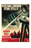 The Day The Earth Stood Still, Danish Movie Poster, 1951 Posters