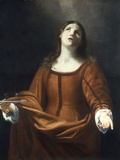 St Lucy Giclee Print by Guido Cagnacci