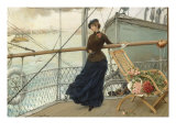 A Scottish Lady on a Boat Arriving in New York Giclee Print by Henry Bacon