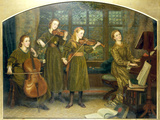 The Home Quartett, 1882 (Mrs.Vernon Lushington and her daughters) Giclee Print by Arthur Hughes