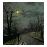 Lane in Cheshire, 1883 Giclee Print by John Atkinson Grimshaw
