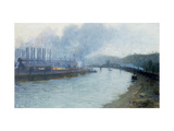 Industrial Scene, Pittsburgh Giclee Print by Aaron Henry Gorson