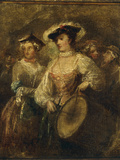 The Beautiful Drummeress Giclee Print by William Hogarth