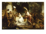 Comus with the Lady in the Enchanted Chair Giclee Print by William Hilton