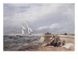 Fishing Boats off Dover, 1829 Posters by David Cox