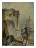 Title Page from a Sketch Book Giclee Print by Hubert Robert