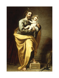 St Joseph with the Infant Christ Wydruk giclee autor Alonso Cano