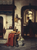 In the Kitchen, 1872 Giclee Print by Charles Joseph Grips