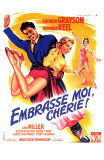 Kiss Me Kate, French Movie Poster, 1953 Prints