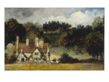 Landscape with Cottage Giclee Print by Frederick Waters Watts