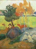 Petit Breton A L'Oie, 1889 Giclee Print by Paul Gaugin