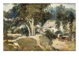 Landscape with Cottages Posters by Frederick Waters Watts