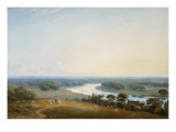 Richmond Hill, Surrey, 1834 Kunst von John Varley