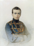 Portrait of Grand Duke Alexander Alexandrovich, Later Tsar Alexander III, 1861 Giclee Print by Andrei Franzovich Belloli