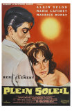 Purple Noon, French Movie Poster, 1964 Print