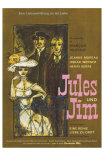 Jules and Jim, German Movie Poster, 1961 Posters