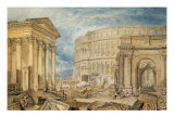Antiquities of Pola, c.1818 Prints by William Turner