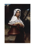 Young Italian Girl Drawing Water From A Well, 1871 Affiches par William Adolphe Bouguereau