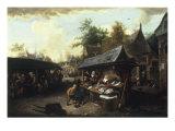 A Market Scene Print by Cornelis Dusart