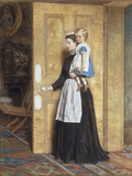 A Nurse with her Charge, 1870 Print by George Goodwin Kilburne