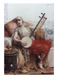 The Musician, 1887 Prints by Leon Francois Commerre