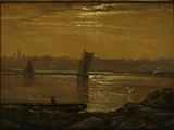 Moonlight on the Elbe, 1830 Giclee Print by Carl Gustav Carus