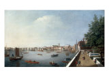 View of the Thames from the Adelphi Terrace Giclee Print by William James