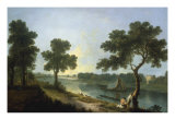 The Thames near Marble Hill, Twickenham Reproduction procédé giclée par Richard Wilson