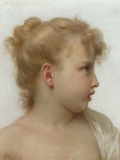 Etude: Tete de Petite Fille, 1888 Poster by William Adolphe Bouguereau