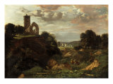Landscape with Whitlingham Church and a Distant View of Norwich Cathedral Giclee Print by John Joseph Cotman