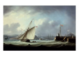 The Arrival of George IV at Leith Harbour Giclee Print by Thomas Buttersworth