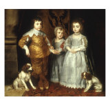 The Three Eldest Children of Charles I Giclee Print by Sir Anthony Van Dyck