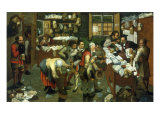 The Tax Collector&#39;s Office Giclee Print by Pieter Breugel the Elder