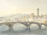 Florence from the Arno Poster by J. M. W. Turner