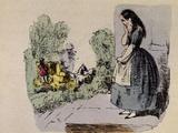 Cinderella's Sisters Depart Giclee Print by Theodor Hosemann